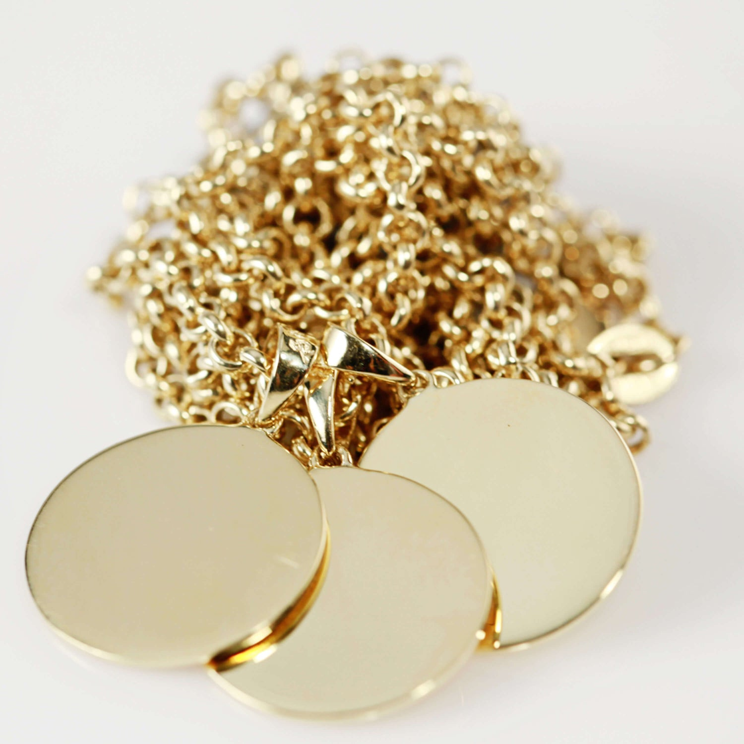 18ct Gold Tag Necklace