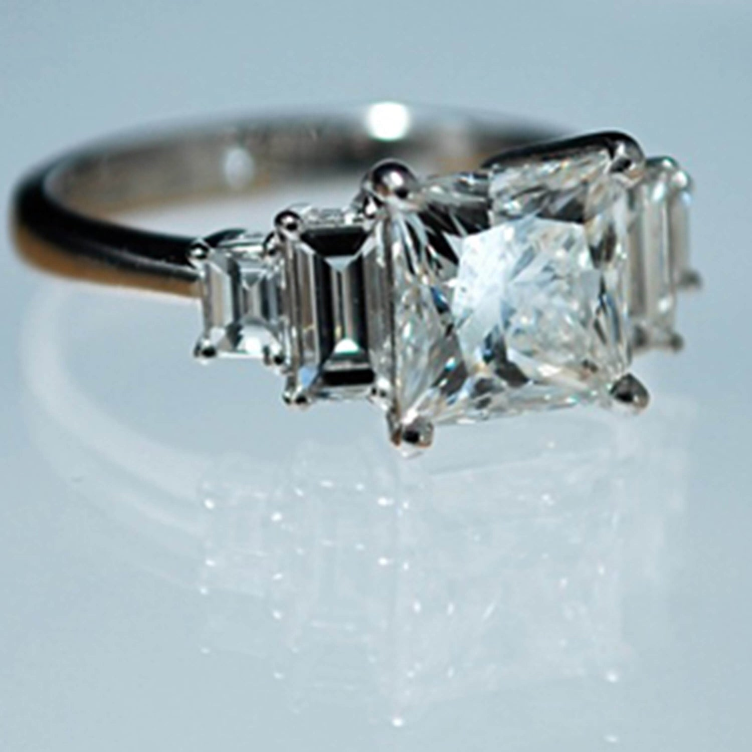 Princess Cut Diamond Art Deco Style Ring