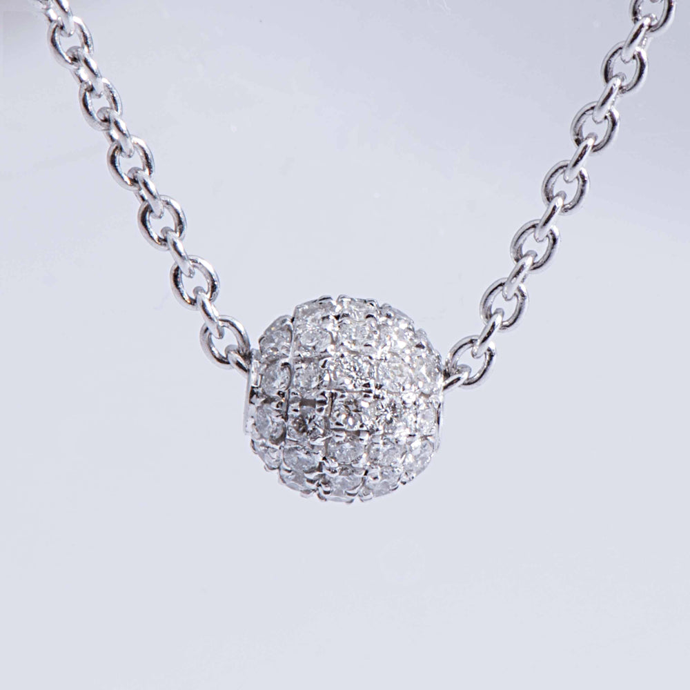 Pave Diamond 'High Goal' Polo Ball Pendant