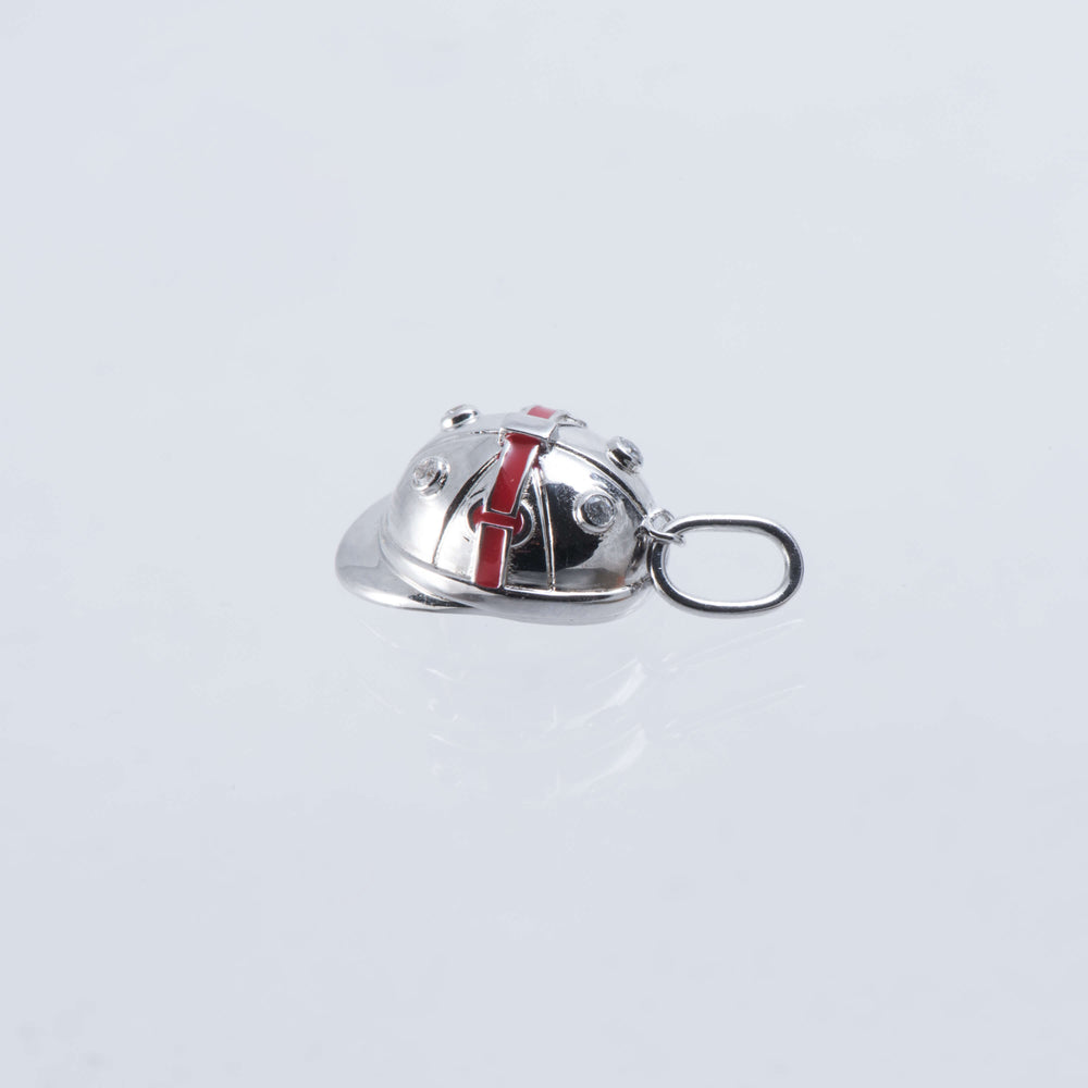 Sterling Silver And Enamel Polo Hat Charm