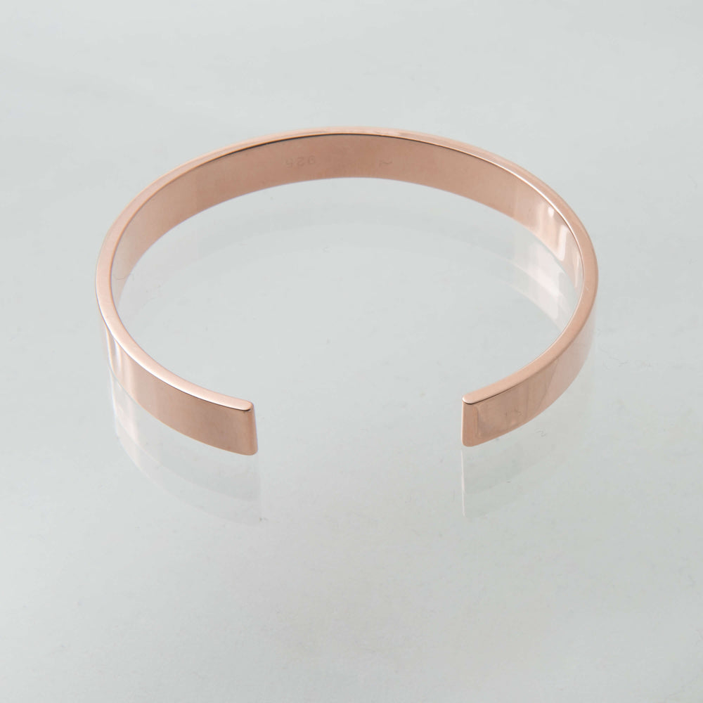 Sterling Silver and 18ct Rose Gold Torque Bangle