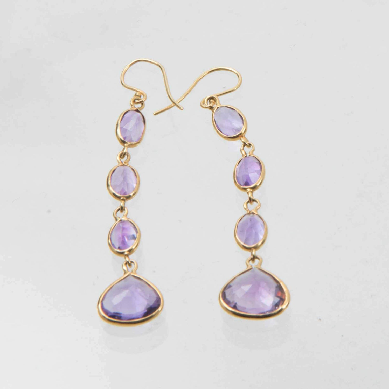 Burmese Amethyst Drop Earrings