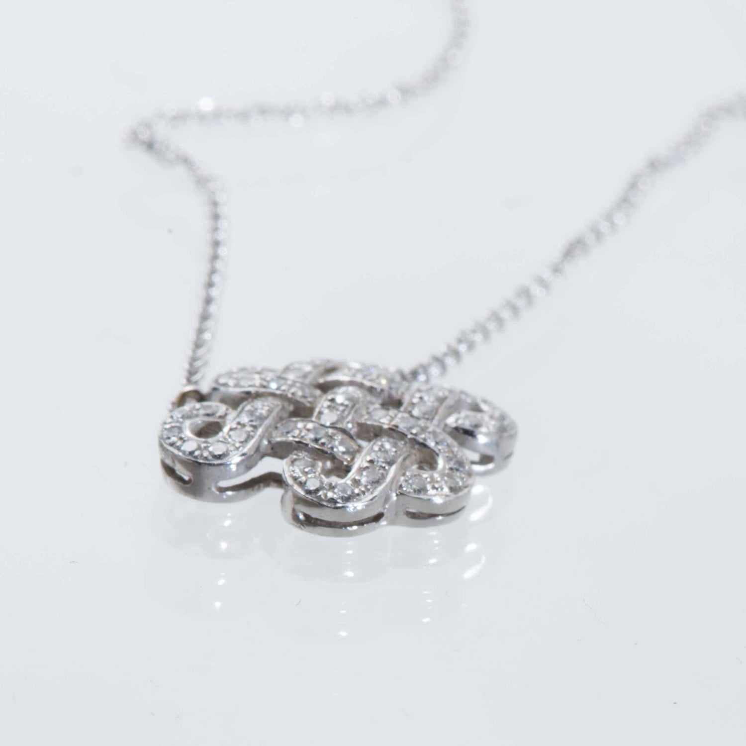 Diamond Set Chinese Knot Necklace