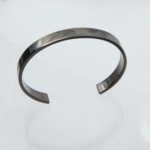 Oxodized Sterling Silver Torque Bangle