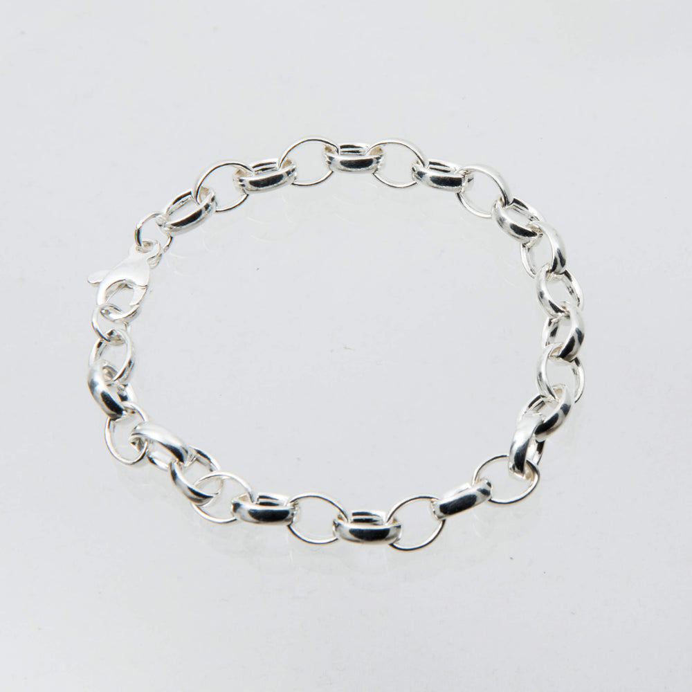 Sterling Silver 'Time Out' Charm Bracelet