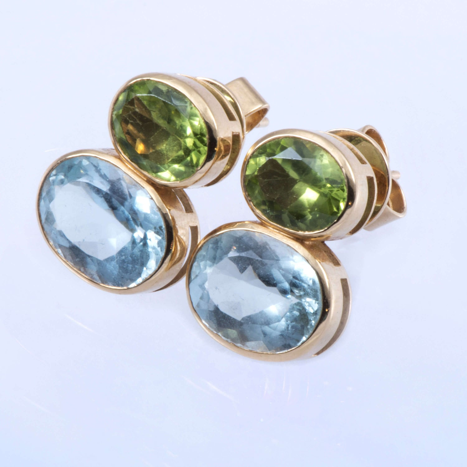 Peridot And Blue Topaz Earrings