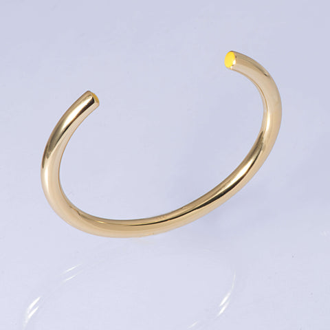 Sterling Silver and 18ct Gold Enamel Stacking Bangle