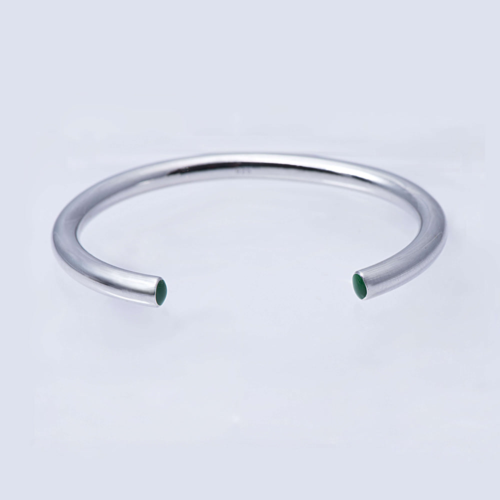 Sterling Silver and Enamel Stacking Bangle