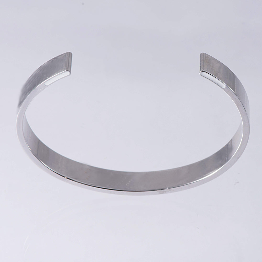 Sterling Silver and Enamel Torque Bangle