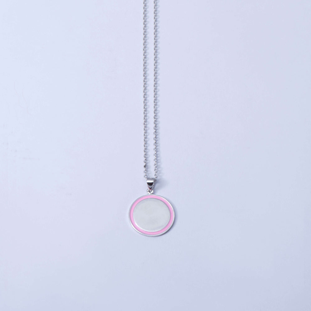 Sterling Silver and Enamel 'Divot' Disk