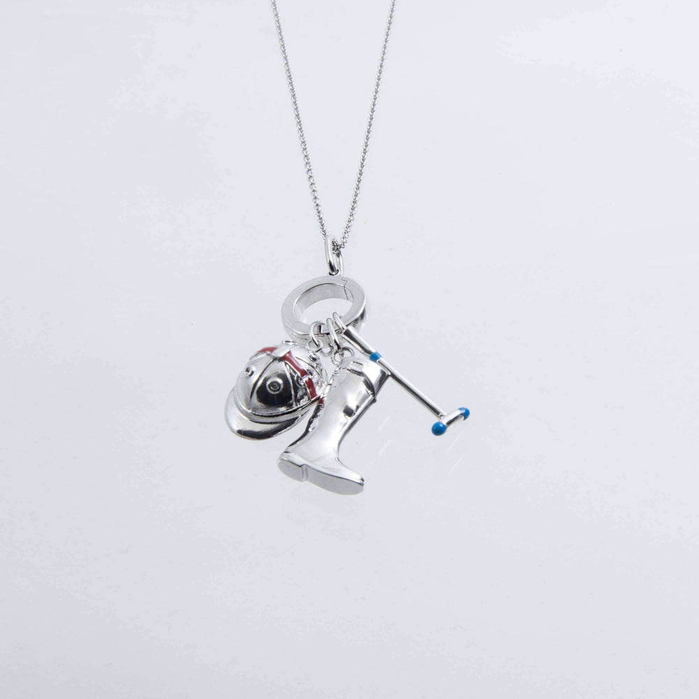 Sterling Silver and Enamel Spur Charm