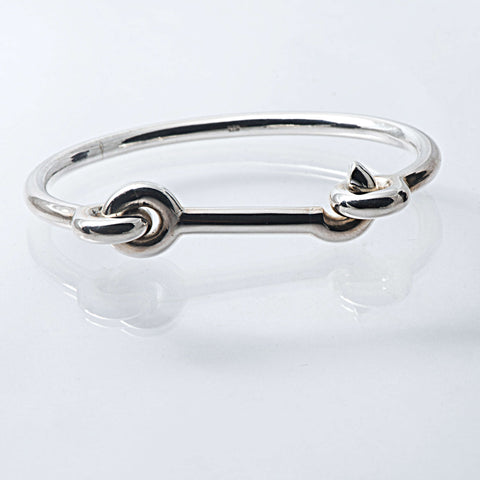 Solid Sterling Silver Snap Bangle