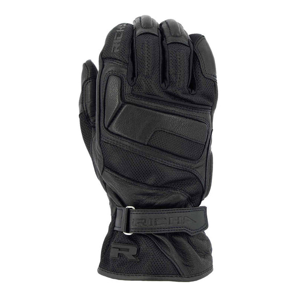 RICHA LADIES SUMMERFLY LEATHER GLOVE - BLACK