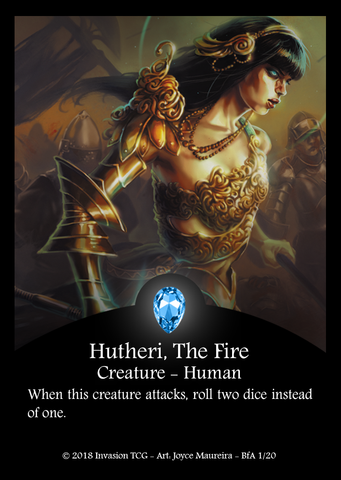 Hutheri, The Fire - Invasion TCG Card