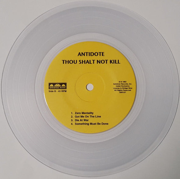 Thou Shalt Not Kill : Clear Vinyl