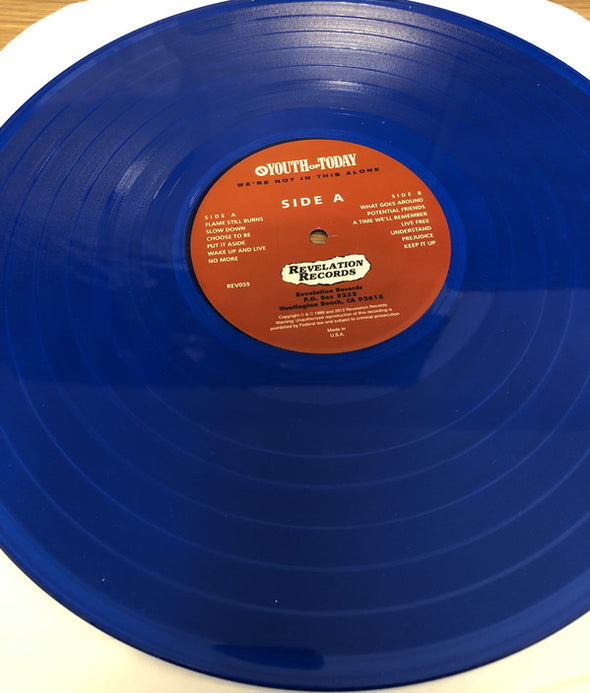 We're Not In This Alone : Blue Vinyl