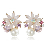 Flower Stud Earrings Love by Eva Simone