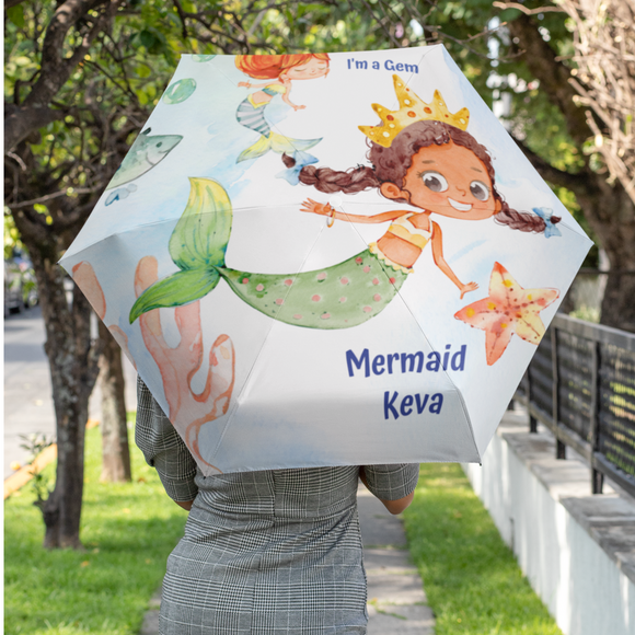 Mermaid Gems Umbrella Customized - Braided