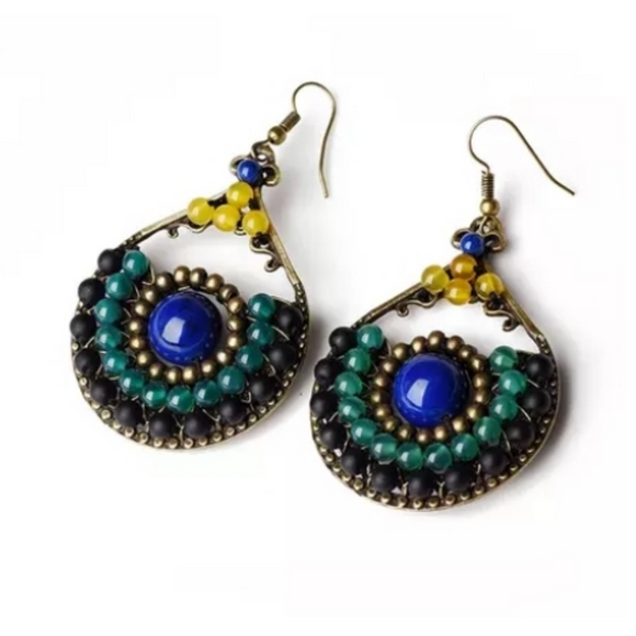 Handmade Beaded Earrings - Angel Eyes Love by Eva Simone