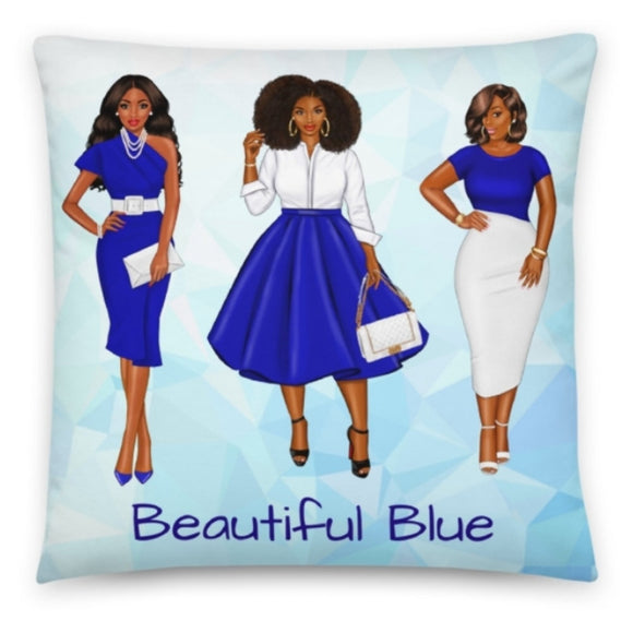 Blue Love Pillow - Love by Eva Simone