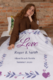 Personalized Couples Blanket - Love by Eva Simone