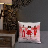 Delta Sigma Theta Love Crimson Personalized Cozy Pillow
