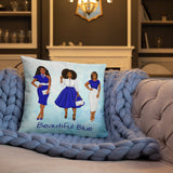 Blue Love Personalized Cozy Pillow