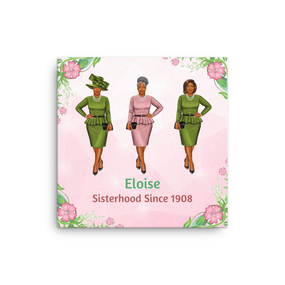 Sisterhood Since 1908 Personalized Canvas Print Multiple Sizes