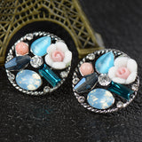 Blue Flower Earrings - Love by Eva Simone