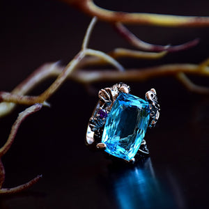 Blue Butterfly Ring - Love by Eva Simone