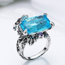 Load image into Gallery viewer, Blue Butterfly Ring - Love by Eva Simone