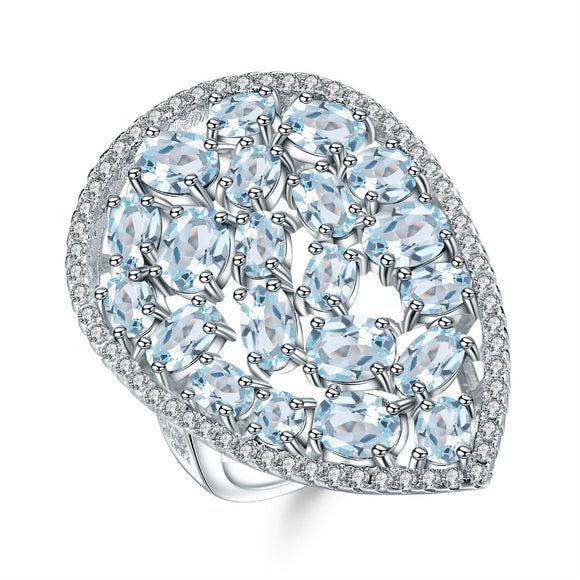 Blue Topaz Ring - Love by Eva Simone