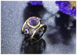Purple Hollows Ring - Love by Eva Simone
