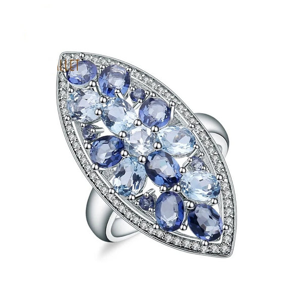 Blue Topaz Ring - Maldives Love by Eva Simone