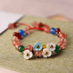 Handmade Beaded Flower Bracelet - Love by Eva Simone
