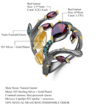 Red Garnet Butterfly Ring - Canopy Dreams