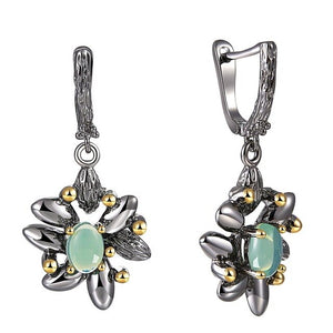 Vintage Flower Earrings - Love by Eva Simone