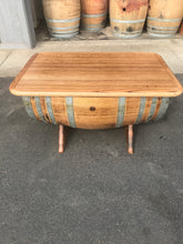 Load image into Gallery viewer, Wine Barrel Sofa Table