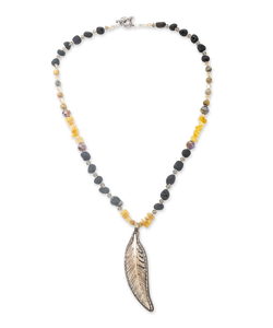 Leaf Volcano Beaded Necklace