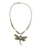 Multi-Colored Glass Beaded Stone Necklace