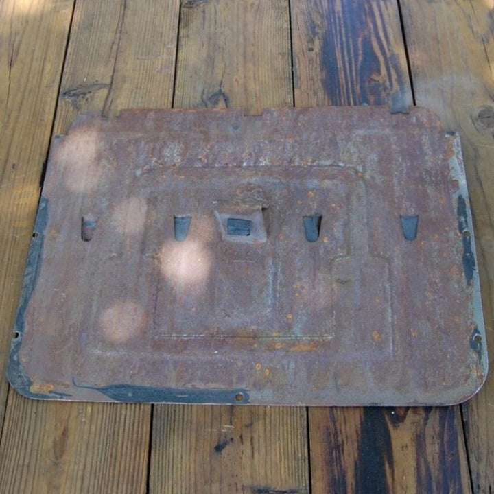 Original Buick Super 50 Door Access Panel cover from a 1949 Buick Super 4-door sedan 50 Series