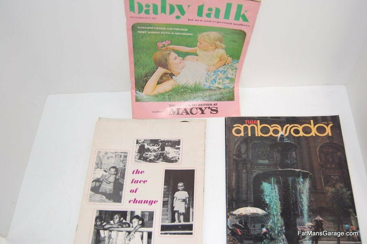 MAGAZINES TWA AMBARADOR BABY TALK 1972, THE FACE OF CHANGE FRIENDS 1954 THE PRES