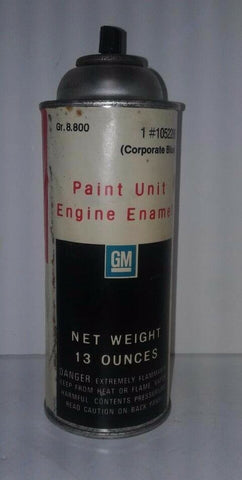 GM Paint Unit Engine Enamel In Corporate Blue NO CAP Partial 13 oz Classic Can