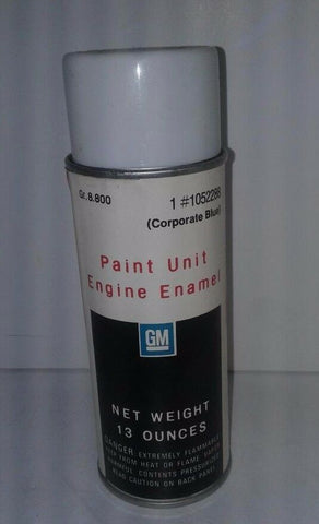 GM Paint Unit Engine Enamel In Corporate Blue With Cap Partial 13 oz Classic Can