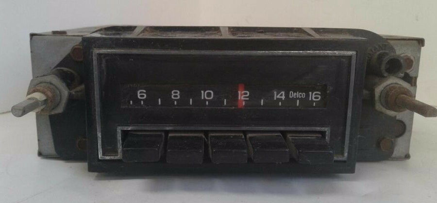 Vintage GM Delco Factory Chevrolet Buick Car Radio  Untested for Parts or Repair