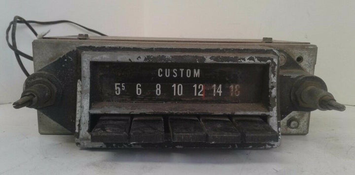 Vintage 70's Custom Car Radio Model # 104006-002 Untested for Parts or Repair