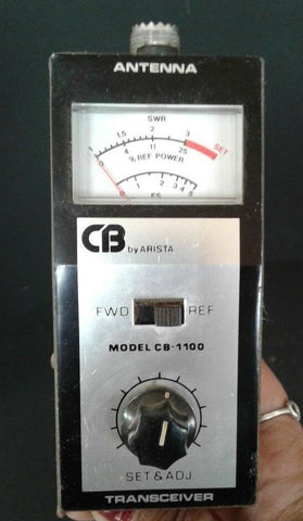 ARISTA Vintage Model CB-1100 Power Meter Ham CB Radio Multi Meter Transceiver