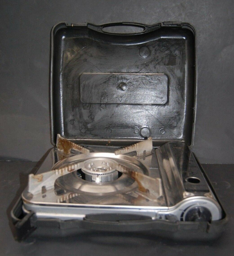 Sterno Butane Portable 8000 BTU Heat Output Camping Stove With Hard Case