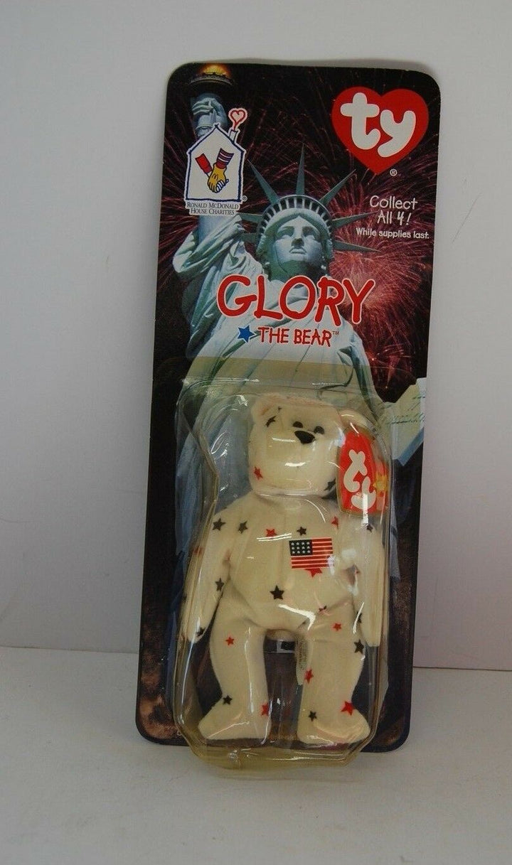 Glory The Bear-1997 McDonald's Ty Beanie Baby Rare Errors 1993 OakBrook Toys