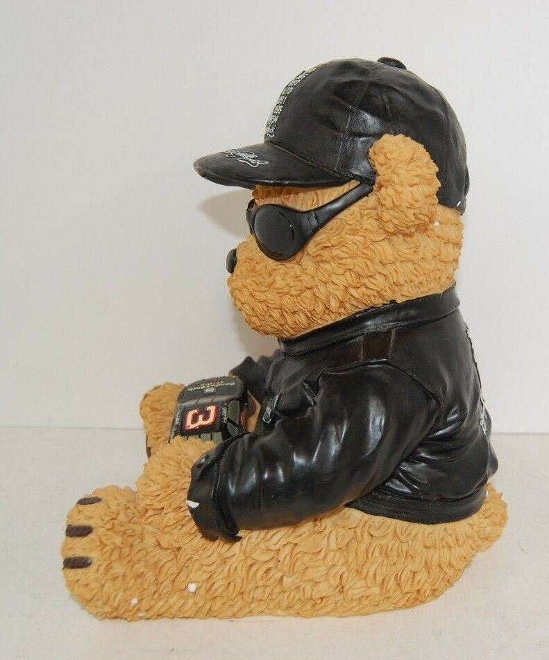 "Official Nascar Dale Earnhardt 10"" 7 Time Champion Bear Figure With Box MINT"